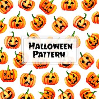 Fundo de padrão de halloween em aquarela