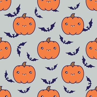 Fundo de padrão de halloween sem emenda
