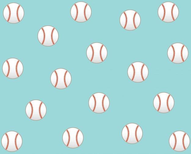Fundo de padrão de ícone de vetor de beisebol