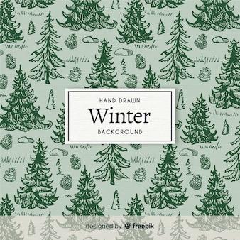 Fundo de padrão de inverno