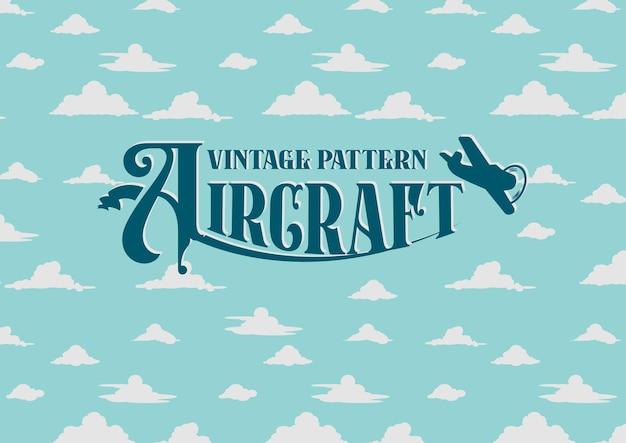 Fundo de padrão de letras vintage de caça a jato de ar
