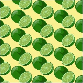 Fundo de padrão de limão