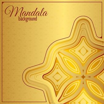 Fundo de padrão de mandala de ouro de luxo