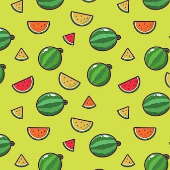 Fundo de padrão de melancia