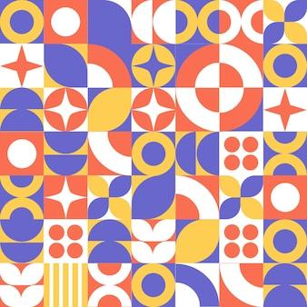 Fundo de padrão de mosaico de forma geométrica