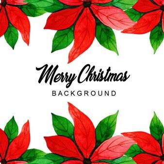 Fundo de padrão de Natal em aquarela
