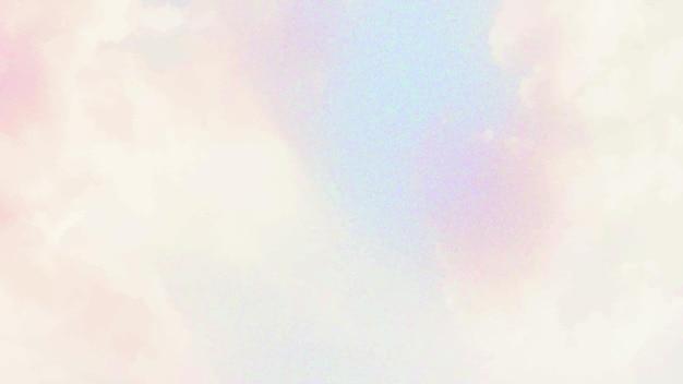 Fundo de padrão de nuvem pastel de vetor