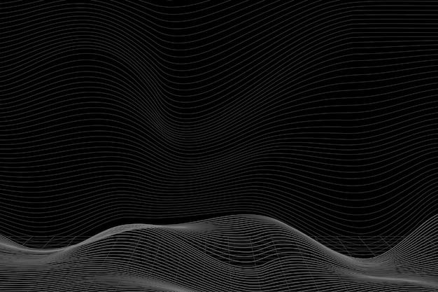 Fundo de padrão de onda abstrato 3d Vetor grátis