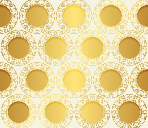 Fundo de padrão de ouro de luxo