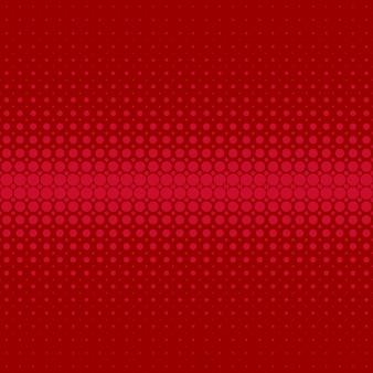 Fundo de padrão de ponto de retalho abstrato retro vermelho - design vetorial de círculos em tamanhos variados
