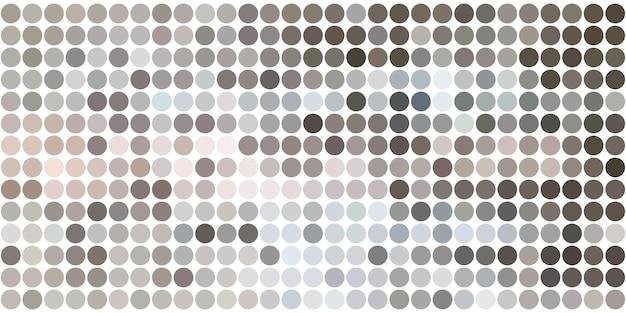 Fundo de padrão de pontos com conjunto de círculos, pontos. modelo de design criativo. ilustração de meio-tom tecnológica.