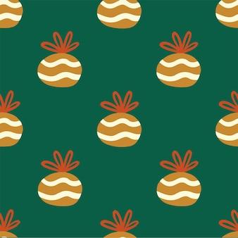 Fundo de padrão de presente de natal ilustração em vetor mídia social postagem de decoração de natal