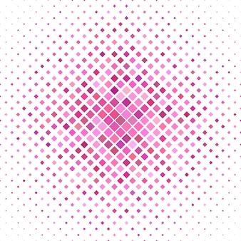 Fundo de padrão de quadrado colorido - gráfico vetorial geométrico a partir de quadrados diagonais em tons de cor-de-rosa