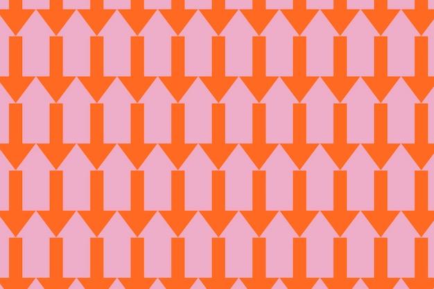 Fundo de padrão de seta, abstrato rosa, vetor de design colorido