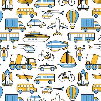 Fundo de padrão de transporte