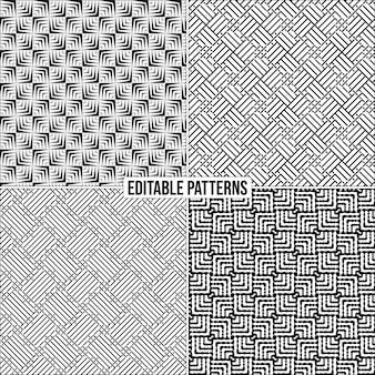 Fundo de padrão de vetor decorativo elegante e editável