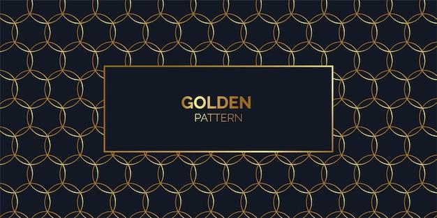 Fundo de padrão dourado bonito