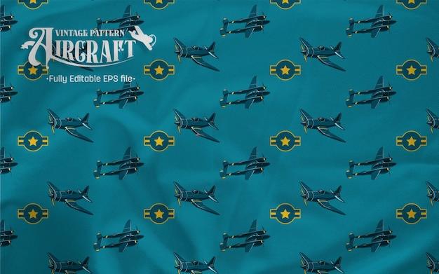 Fundo de padrão f38 do lutador de embarcações aéreas vintage