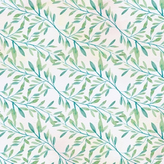 Fundo de padrão floral aquarela