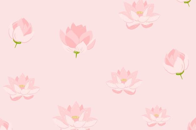 Fundo de padrão floral de lótus rosa