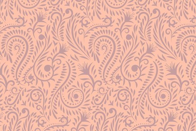 Fundo de padrão floral desenhado à mão