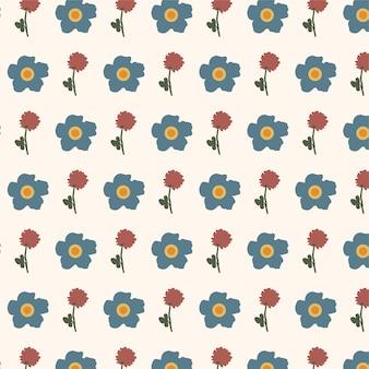 Fundo de padrão floral pequeno bonito sem costura, motivos espalhados aleatoriamente