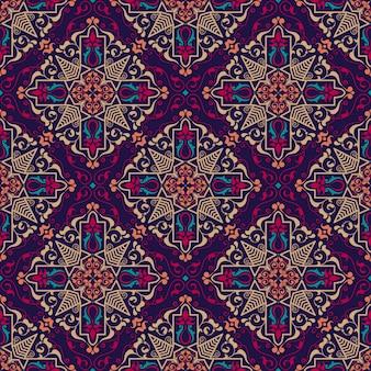 Fundo de padrão floral sem costura em estilo árabe