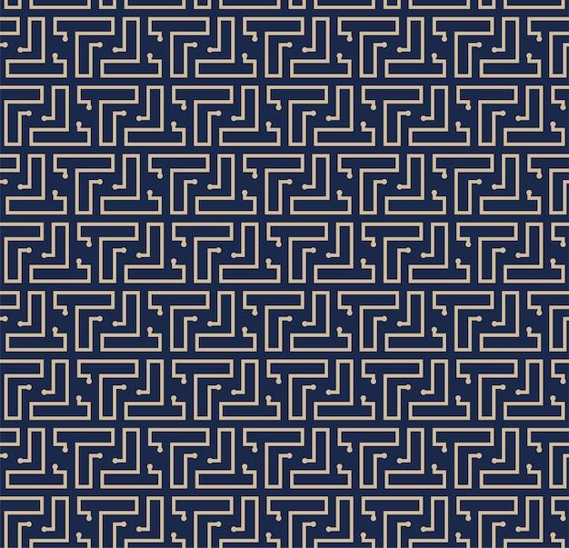 Fundo de padrão geométrico de labirinto abstrato