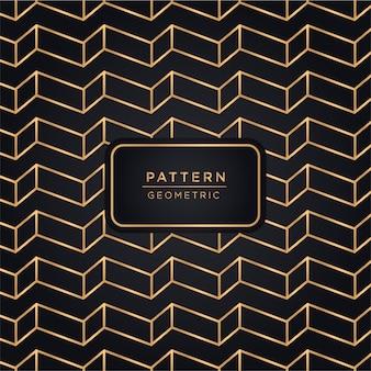 Fundo de padrão geométrico de luxo na cor ouro
