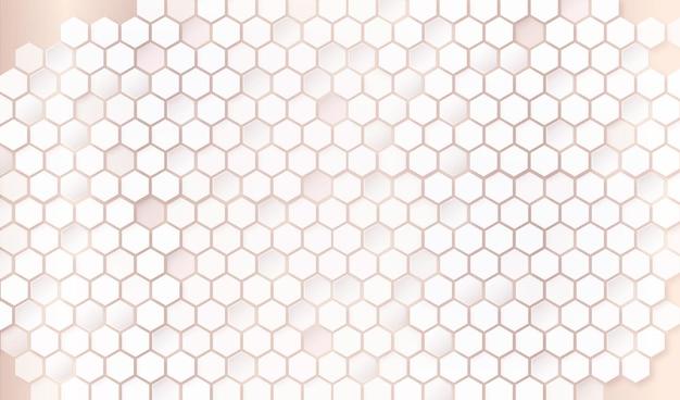 Fundo de padrão hexagonal elegante