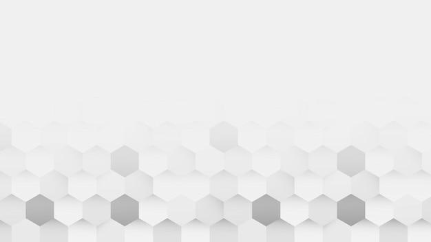 Fundo de padrão hexágono branco e cinza