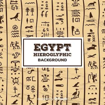 Fundo de padrão hieróglifo do egito
