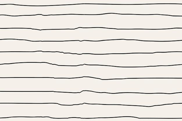 Fundo de padrão listrado, vetor de doodle, design simples
