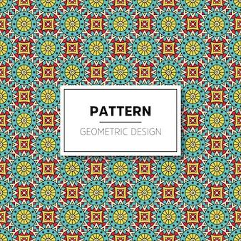 Fundo de padrão ornamental de mandala de luxo