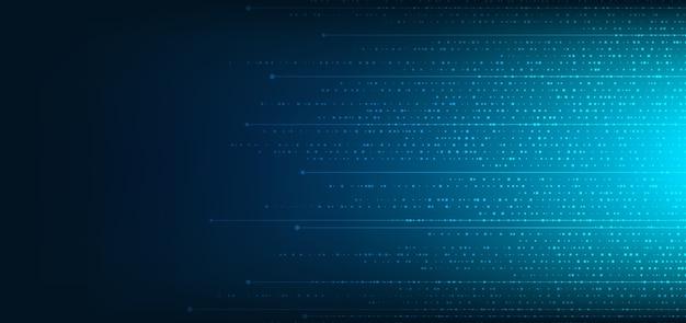 Fundo de padrão quadrado azul digital de tecnologia abstrata
