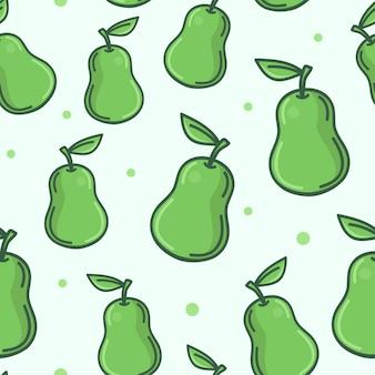 Fundo de padrão sem emenda abacate frutas