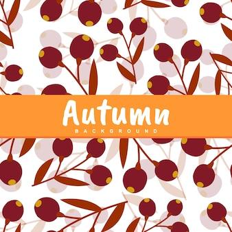 Fundo de padrão sem emenda de folha de outono