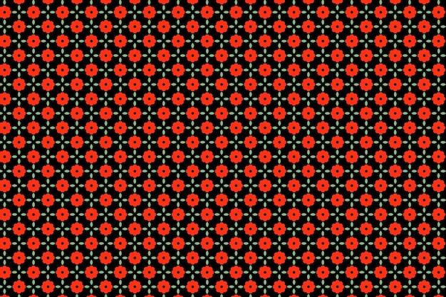 Fundo de padrão sem emenda floral vermelho indiano