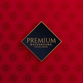 Fundo de padrão vermelho vintage de luxo