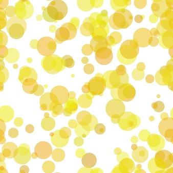 Fundo de padrões de bolhas yello