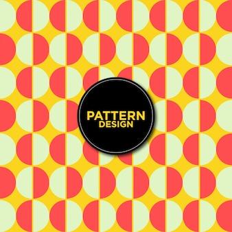 Fundo de padrões de círculos bicolor