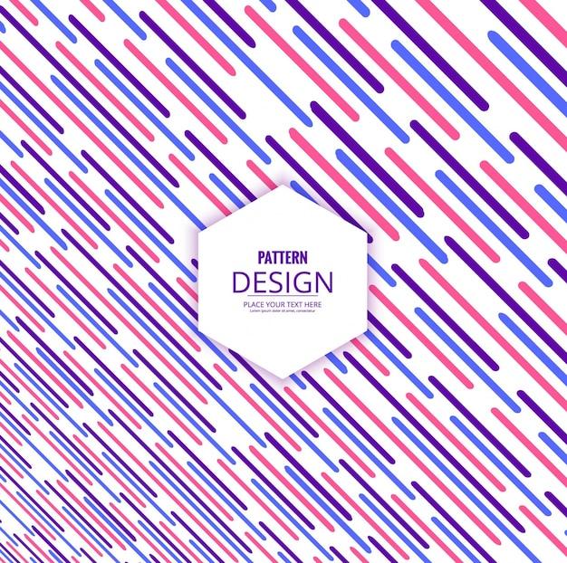 Fundo de padrões de linhas coloridas