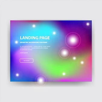 Fundo de página de aterrissagem colorfull com super gradiente
