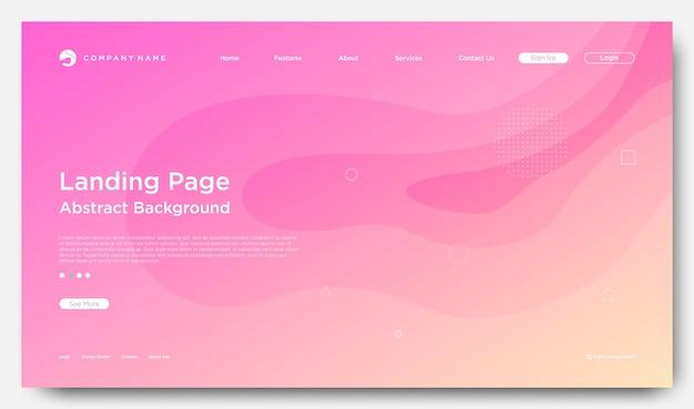 Fundo de página de aterrissagem de site, estilo abstrato moderno
