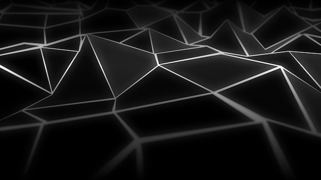 Fundo de paisagem abstrata wireframe digital