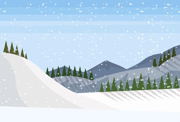 Fundo de paisagem de inverno
