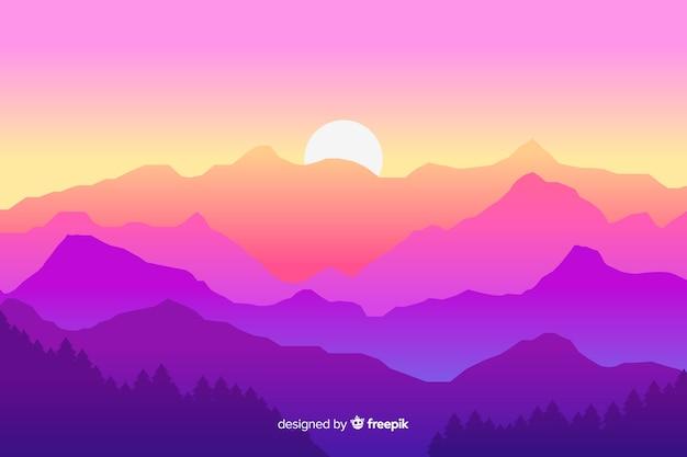 Fundo de paisagem de montanhas
