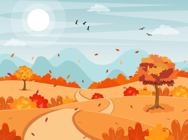 Fundo de paisagem de outono