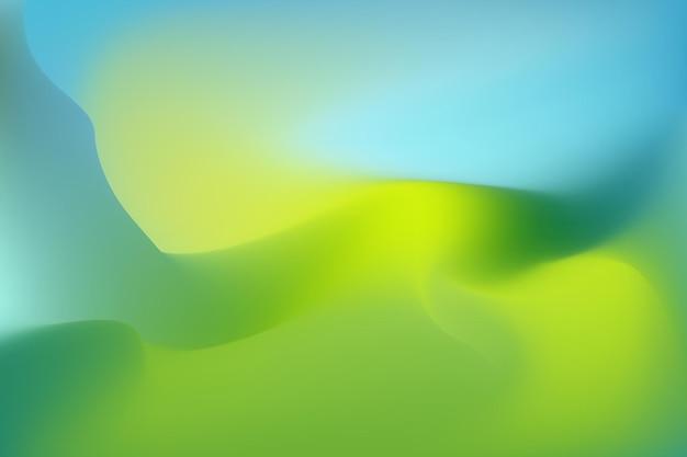 Fundo de paisagem de primavera de cor abstrata ilustração vetorial fantasia de metamorfose multicolorida