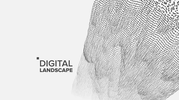 Fundo de paisagem de tecnologia